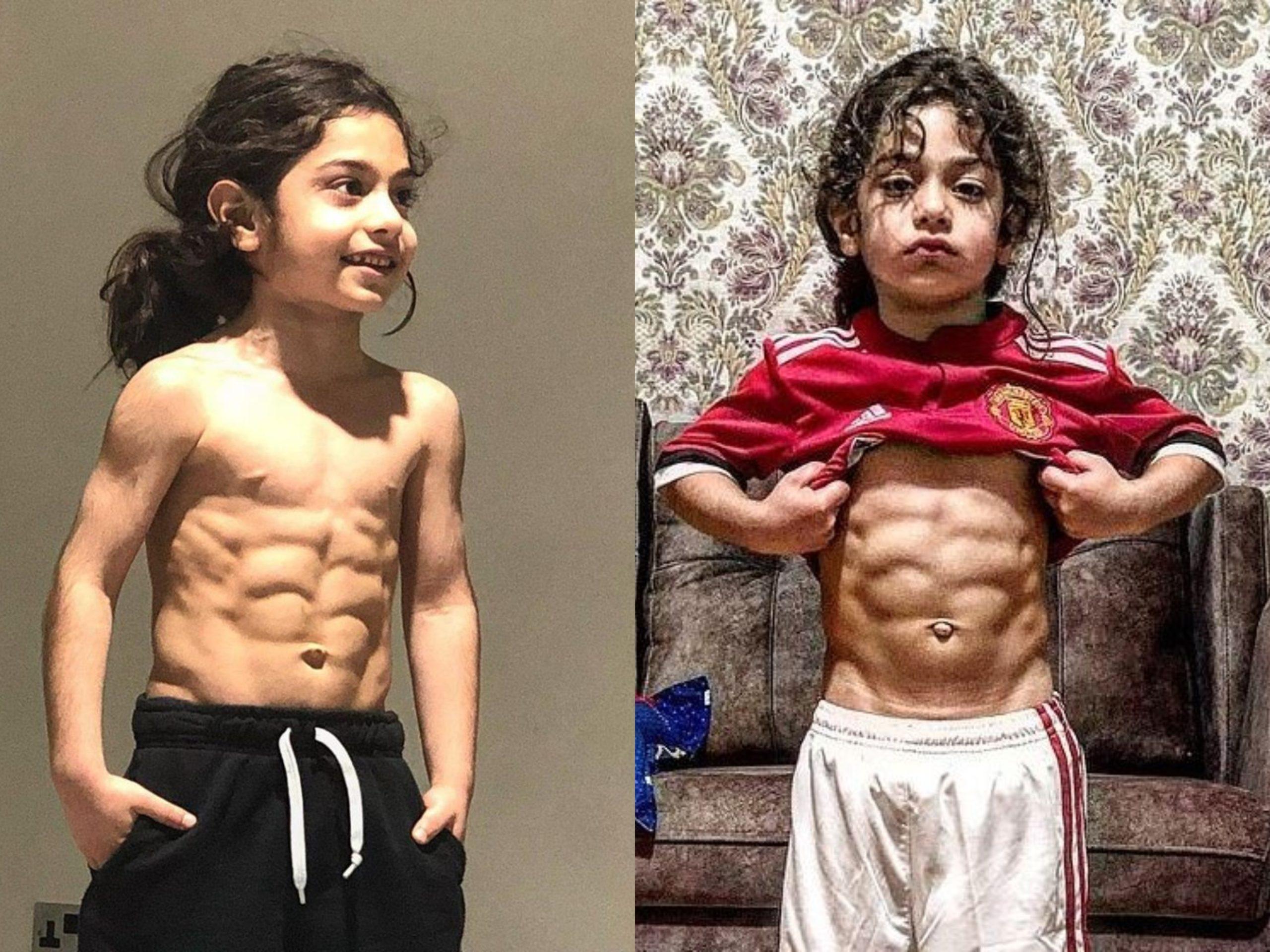 Un băiat în vârstă de 6 are abdomen perfect cu 6 patratele si a câștigat milioane de fani Instagram
