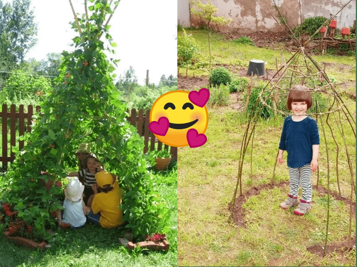 Oamenii cresc corturi pentru copii lor folosind aceasta planta cataratoare