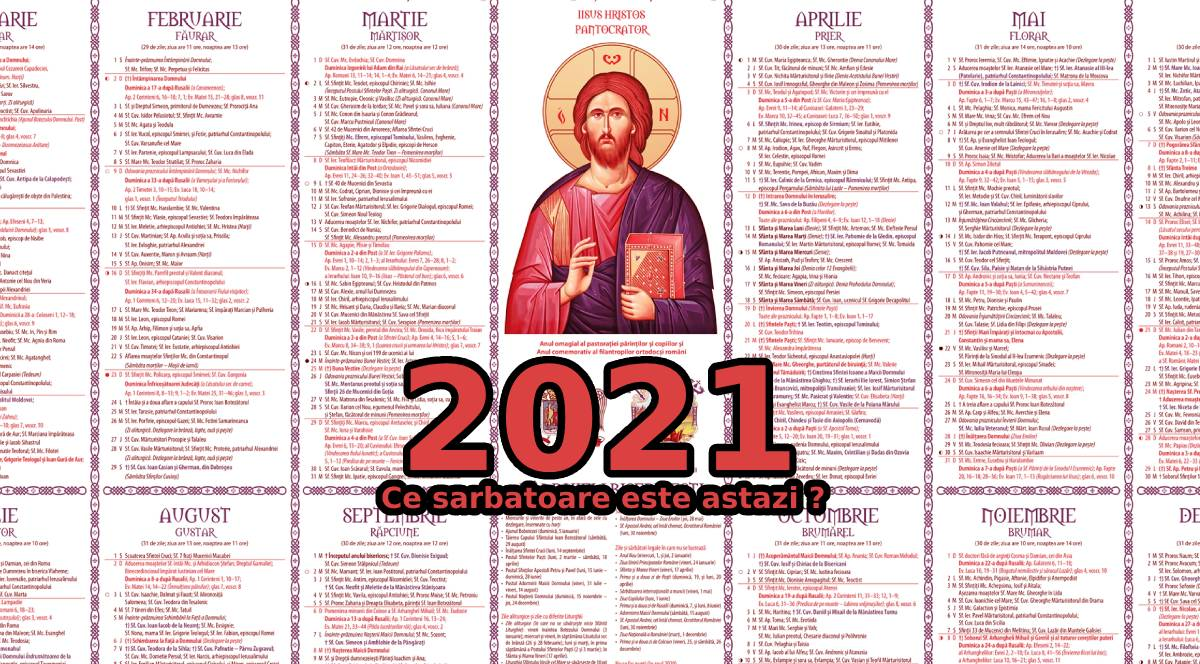 Ce sarbatoare este astazi in calendarul ortodox 2021